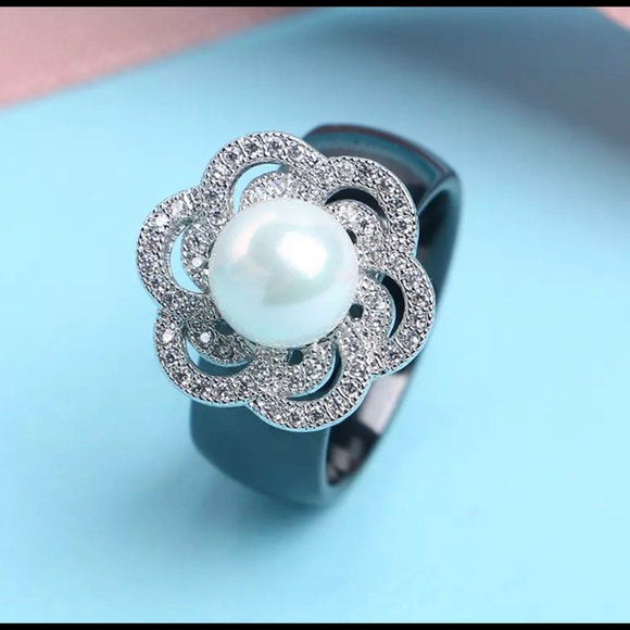 Jewelry - Ceramic and Sterling Silver Ring